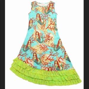 Lemon Loves Lime Mermaid Asymmetric Dress Sz 7